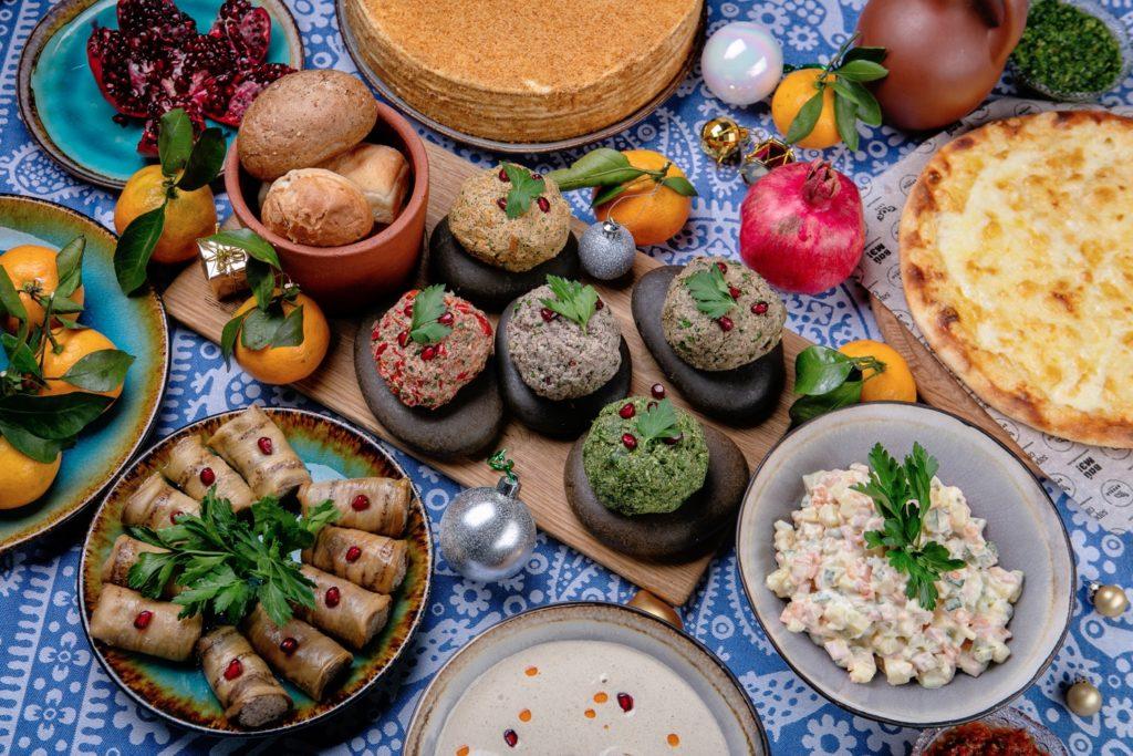 Грузинское новогоднее застолье от ресторанов Saperavi Cafe
